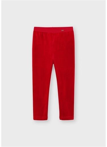 Mayoral Mayoral Kız Çocuk Kadife Tayt Pantolon Kırmızı